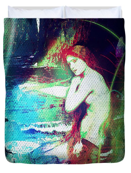 Mermaid Of The Tides Duvet Cover by Absinthe Art By Michelle LeAnn Scott