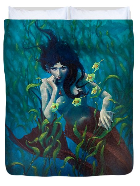 Mermaid Duvet Cover by Rob Corsetti