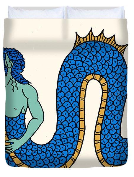 Merman Duvet Cover by Science Source