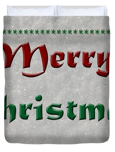 Merry Christmas Duvet Cover by Aimee L Maher Photography and Art Visit ALMGallerydotcom