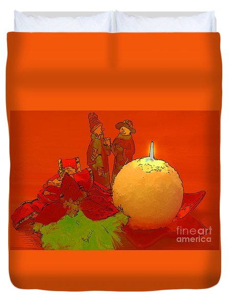 Duvet Cover featuring the photograph Merry Christmas by Teresa Zieba