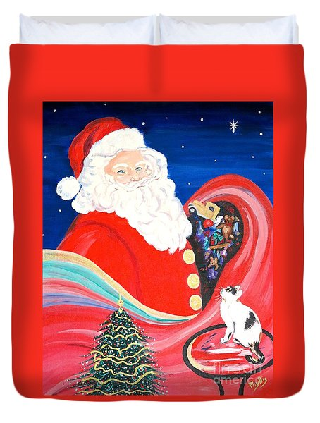 Merry Christmas To All Duvet Cover