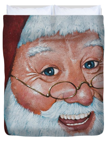 Merry Santa Duvet Cover