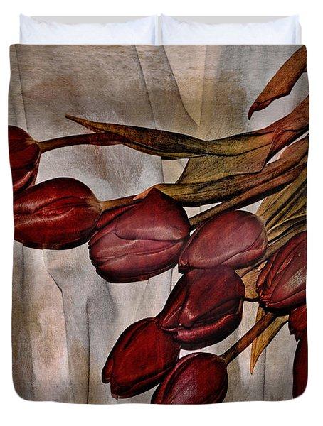 Mes Tulipes Duvet Cover by Aimelle