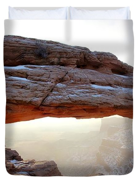 Duvet Cover featuring the photograph Mesa Arch Looking North by David Andersen
