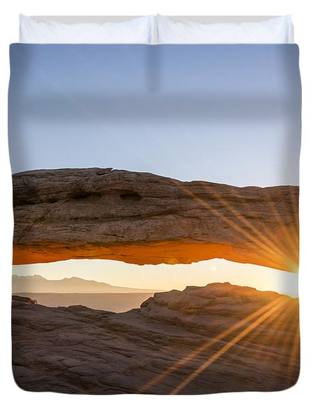 Mesa Arch Sunrise 7 - Canyonlands National Park - Moab Utah Duvet Cover by Brian Harig