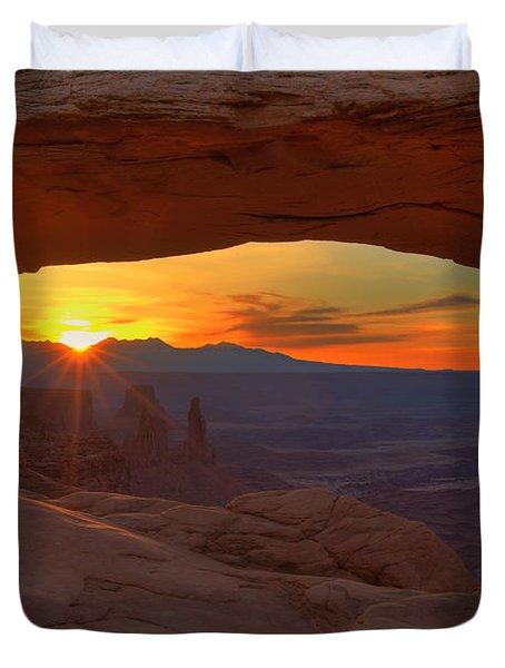 Mesa Arch Sunrise Duvet Cover by Alan Vance Ley