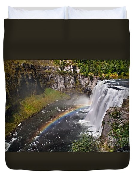 Mesa Falls Duvet Cover by Robert Bales