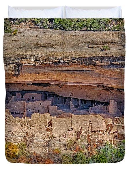 Mesa Verde Cliff Dwelling Duvet Cover