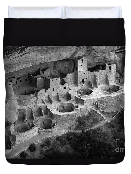 Mesa Verde Monochrome Duvet Cover by Bob Christopher