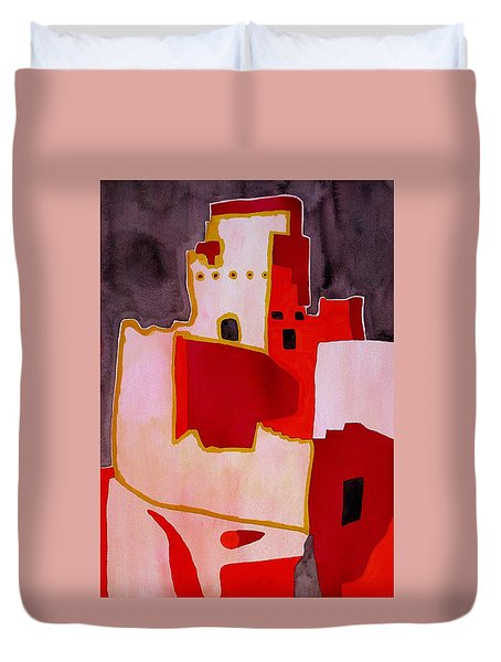 Mesa Verde Original Painting Sold Duvet Cover by Sol Luckman