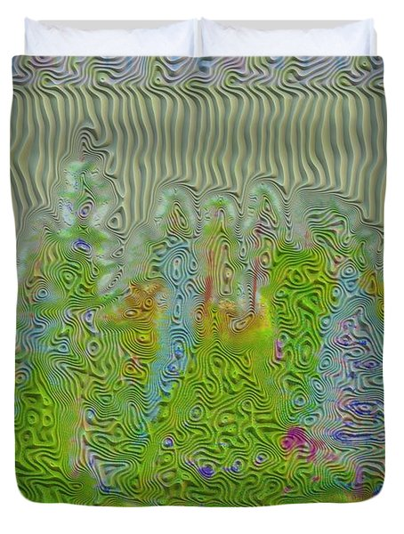 Meshed Tree Abstract Duvet Cover by Liane Wright