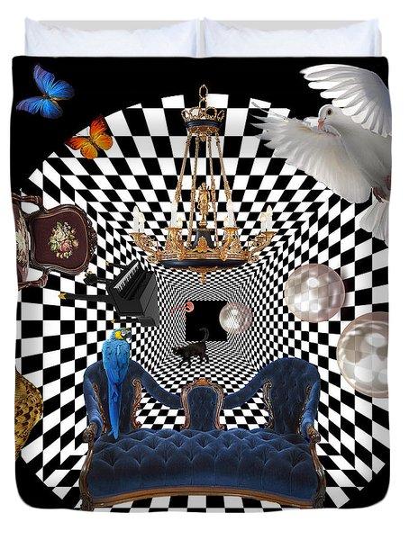 Mess In Wonderland  Duvet Cover by Mark Ashkenazi