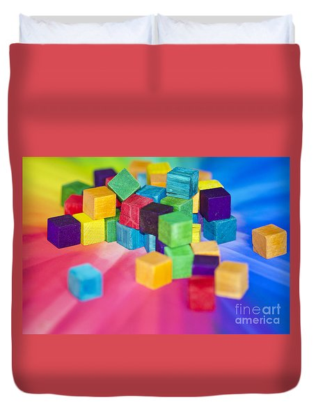 Mess Of Colour Duvet Cover by Dee Cresswell