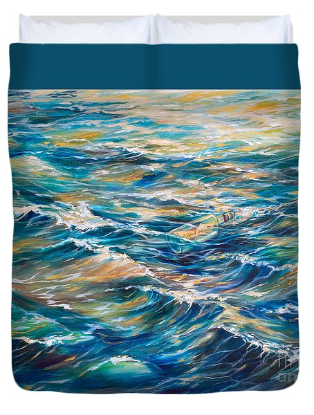 Message In A Bottle Duvet Cover by Linda Olsen