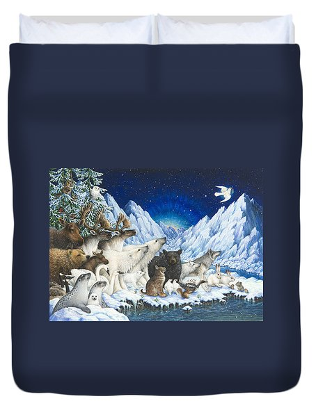 Message Of Peace Duvet Cover
