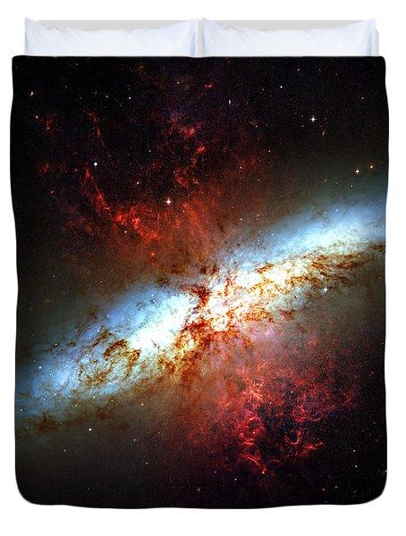 Messier 82 Duvet Cover by Ricky Barnard