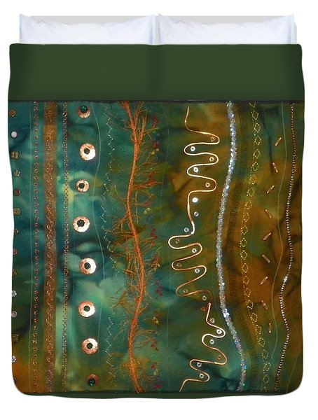 Metal Candy Duvet Cover by Jenny Williams