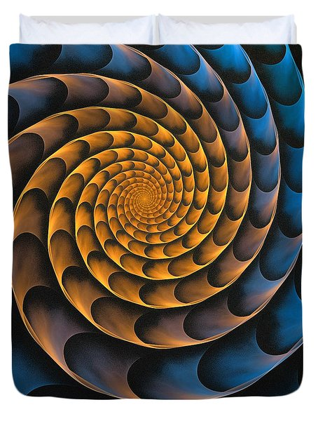 Metal Spiral Duvet Cover