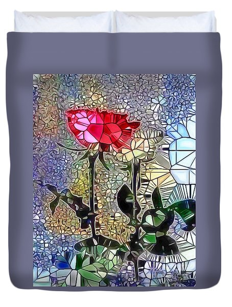 Metalic Rose Duvet Cover