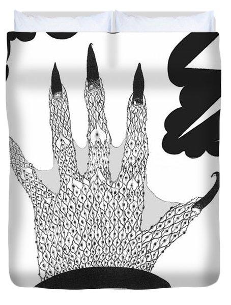 Duvet Cover featuring the digital art Metamorphosis by Carol Jacobs