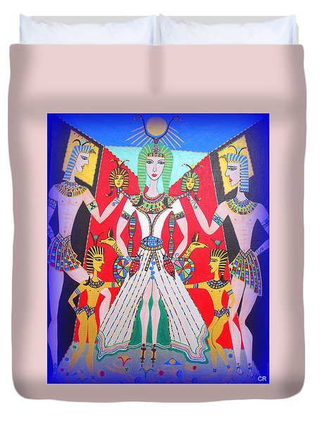 Metamorphosis Of Melisa Into Nefertiti Duvet Cover by Marie Schwarzer