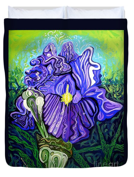 Metaphysical Iris Duvet Cover by Genevieve Esson