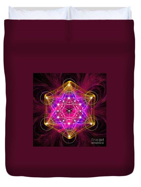 Metatron Cube  Duvet Cover