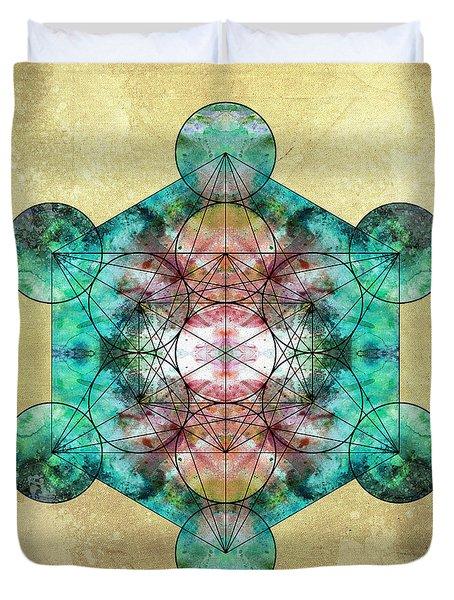 Metatron's Cube Duvet Cover by Filippo B