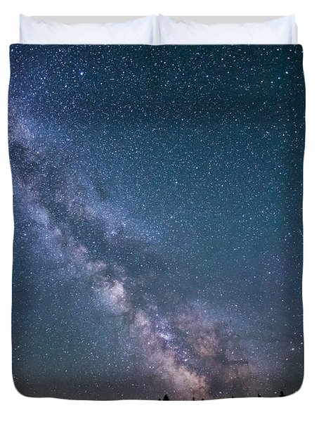 Meteor Milky Way  Duvet Cover