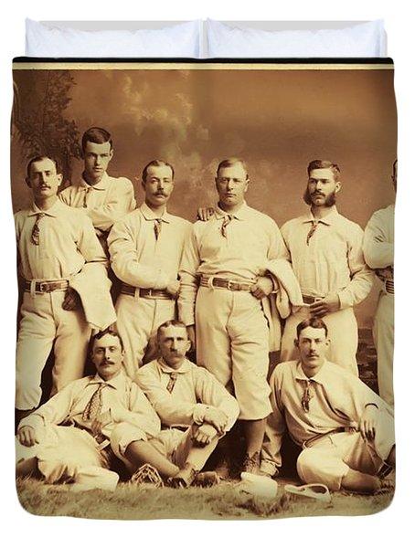 Metropolitan Baseball Nine Team In 1882 Duvet Cover by Bill Cannon