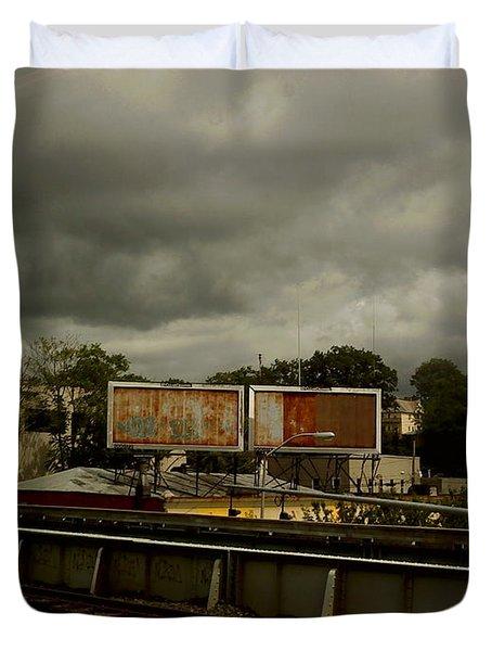 Duvet Cover featuring the photograph Metropolitan Transit by Miriam Danar