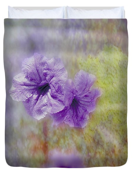 Duvet Cover featuring the photograph Mexican Petunia by Judy Hall-Folde