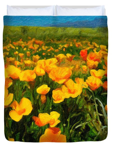 Mexican Poppies Duvet Cover