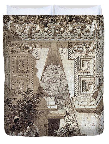 Mexico Uxmal Ruins, C1844 Duvet Cover