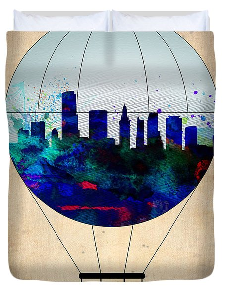 Miami Air Balloon Duvet Cover