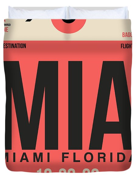 Miami Airport Poster 3 Duvet Cover