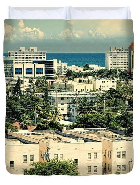 Miami Beach-0156 Duvet Cover