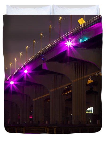 Miami Macarthur Causeway Bridge Duvet Cover