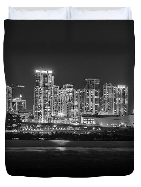 Miami On A Clear Summer Night Duvet Cover