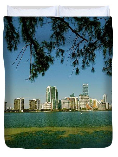 Miami Skyline Duvet Cover