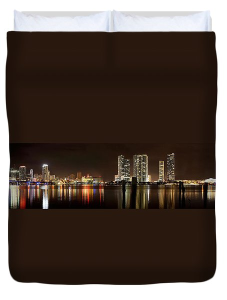 Miami - Skyline Panorama Duvet Cover
