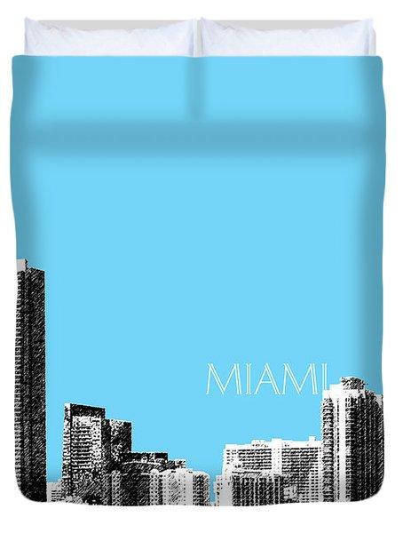 Miami Skyline - Sky Blue Duvet Cover