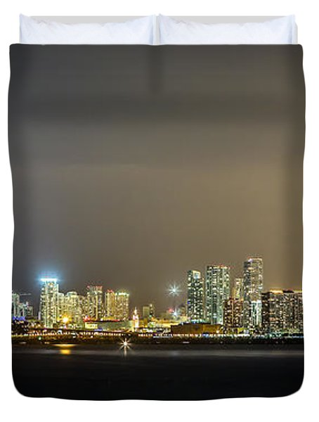 Miami Skyline View II Duvet Cover
