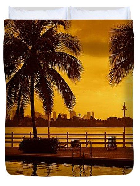 Miami South Beach Romance Duvet Cover