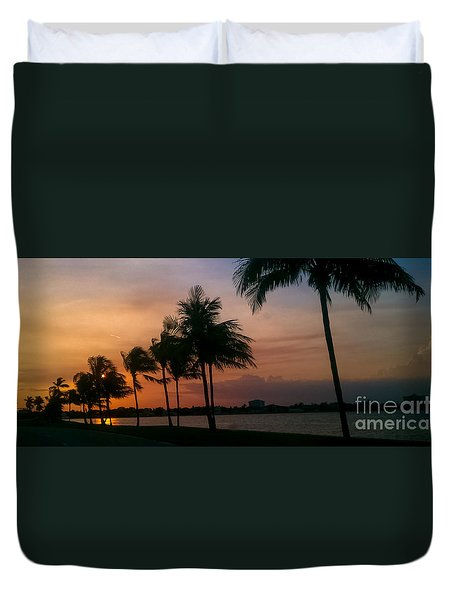 Miami Sunset Duvet Cover