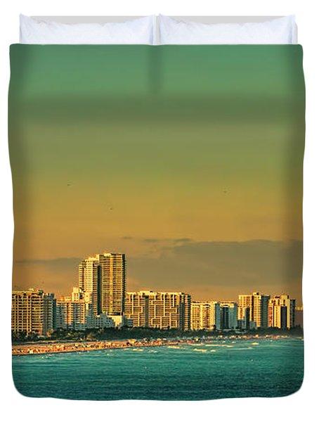 Miami Sunset Duvet Cover