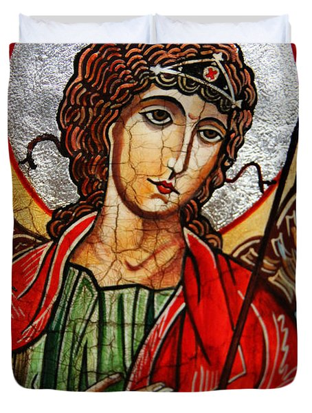 Michael Archangel Duvet Cover by Ryszard Sleczka