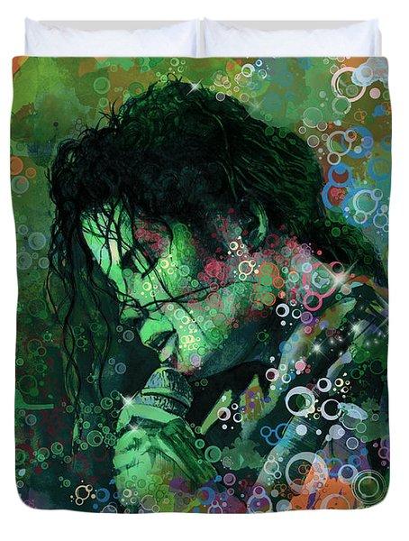 Michael Jackson 15 Duvet Cover by Bekim Art