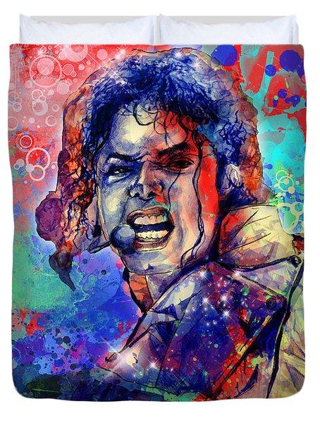 Michael Jackson 8 Duvet Cover by Bekim Art